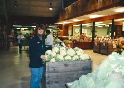 Patty Trax working in the produce department - 2001