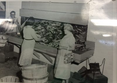 The corn chute in the late 50's, still in operation today