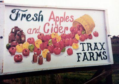 Apple road sign